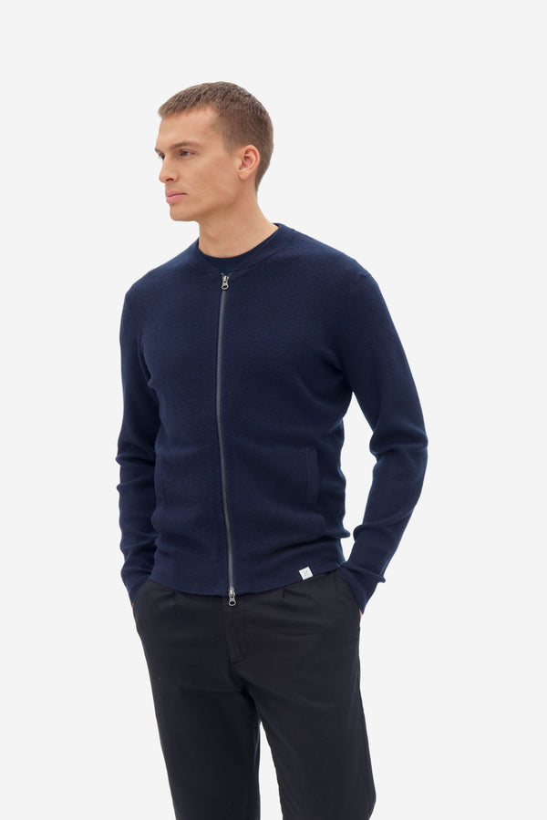 NAB0202D1 structure knit bomber