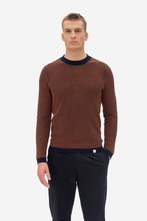 NAB0203D1 two toned sweater