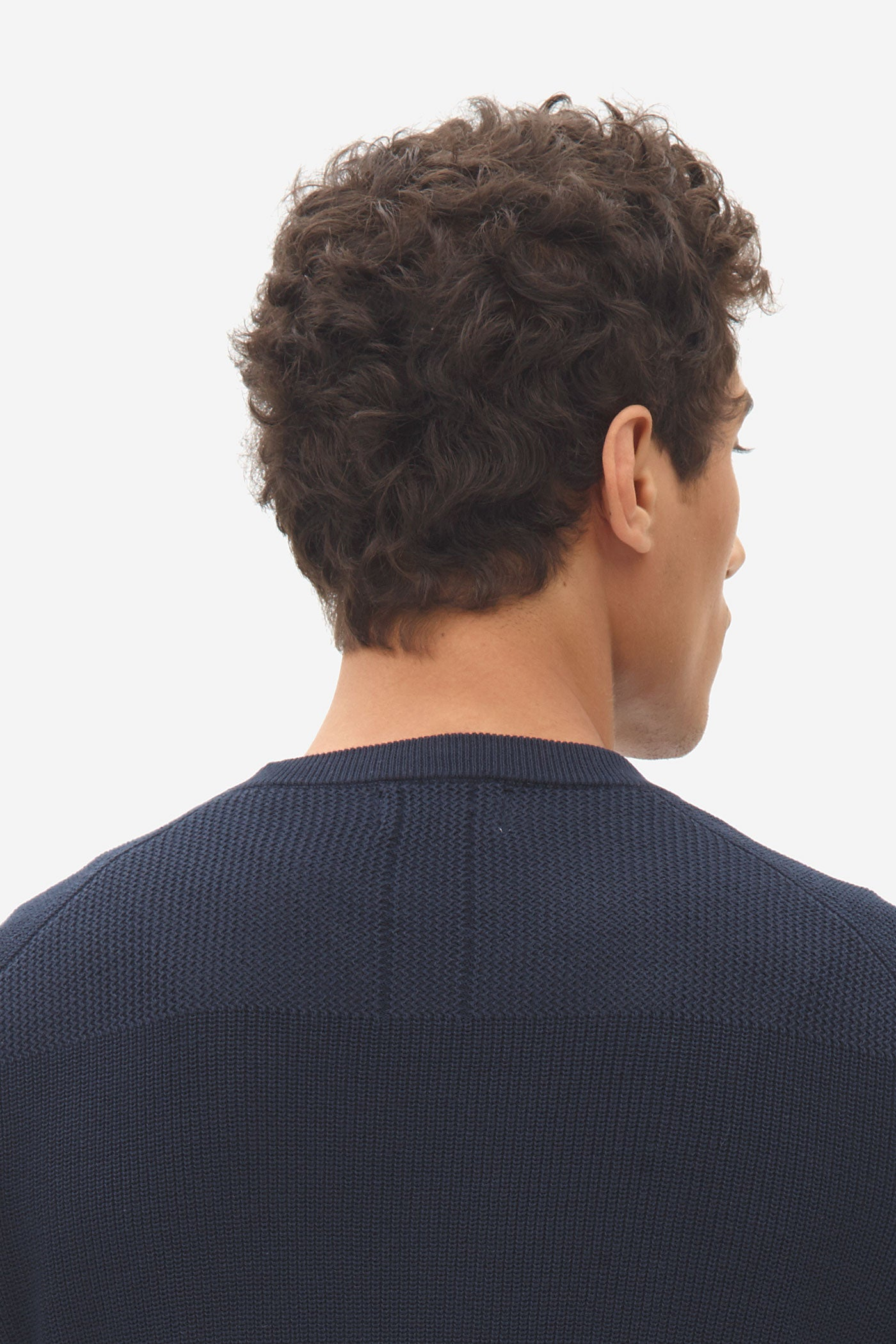 NOS022 multi structure sweater sky captain