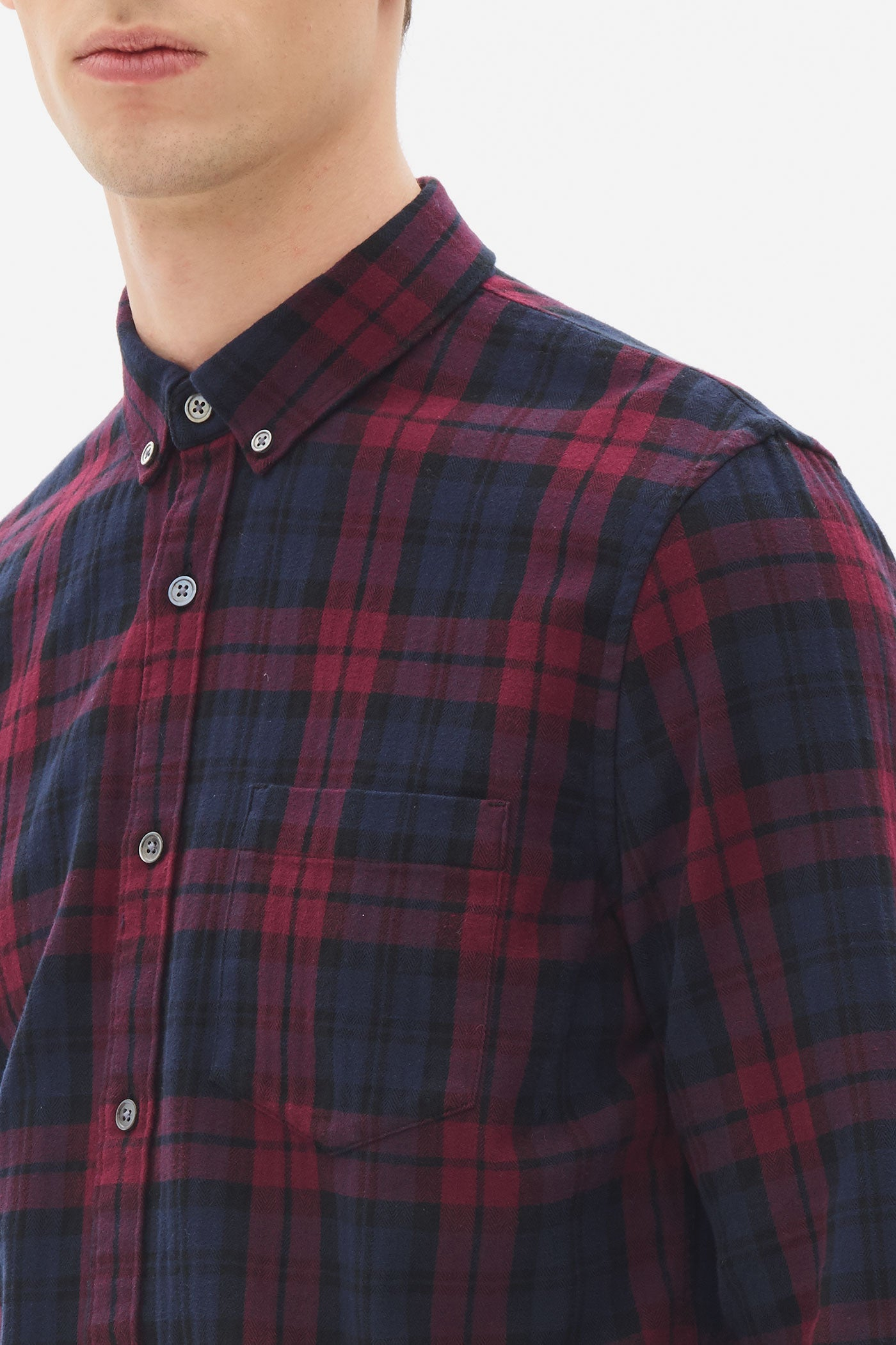 Brushed Herringbone Button Down Shirt