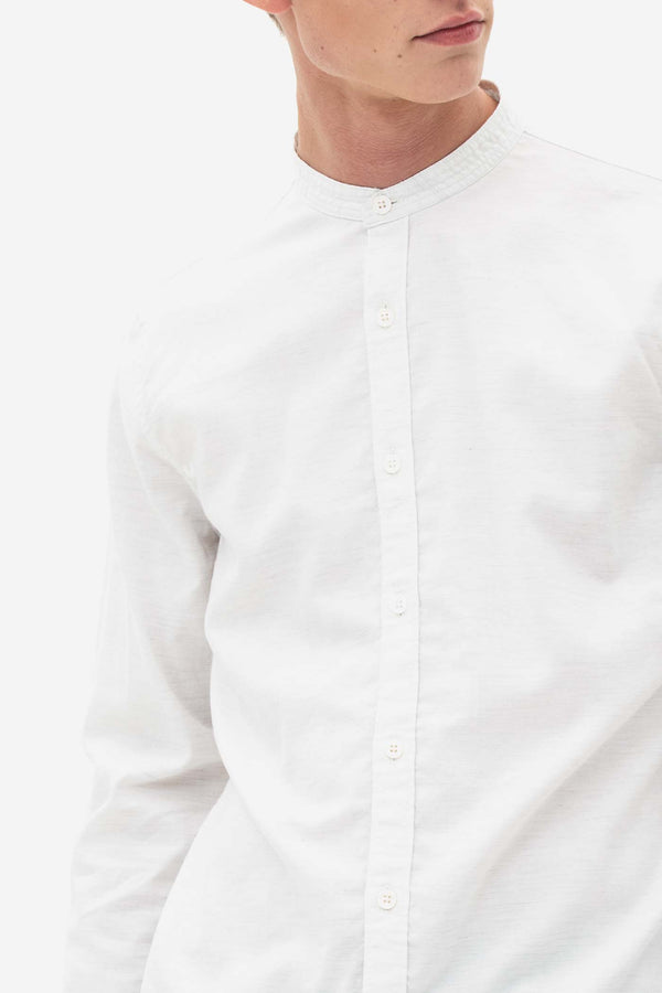 Grandad Oxford Shirt bright white