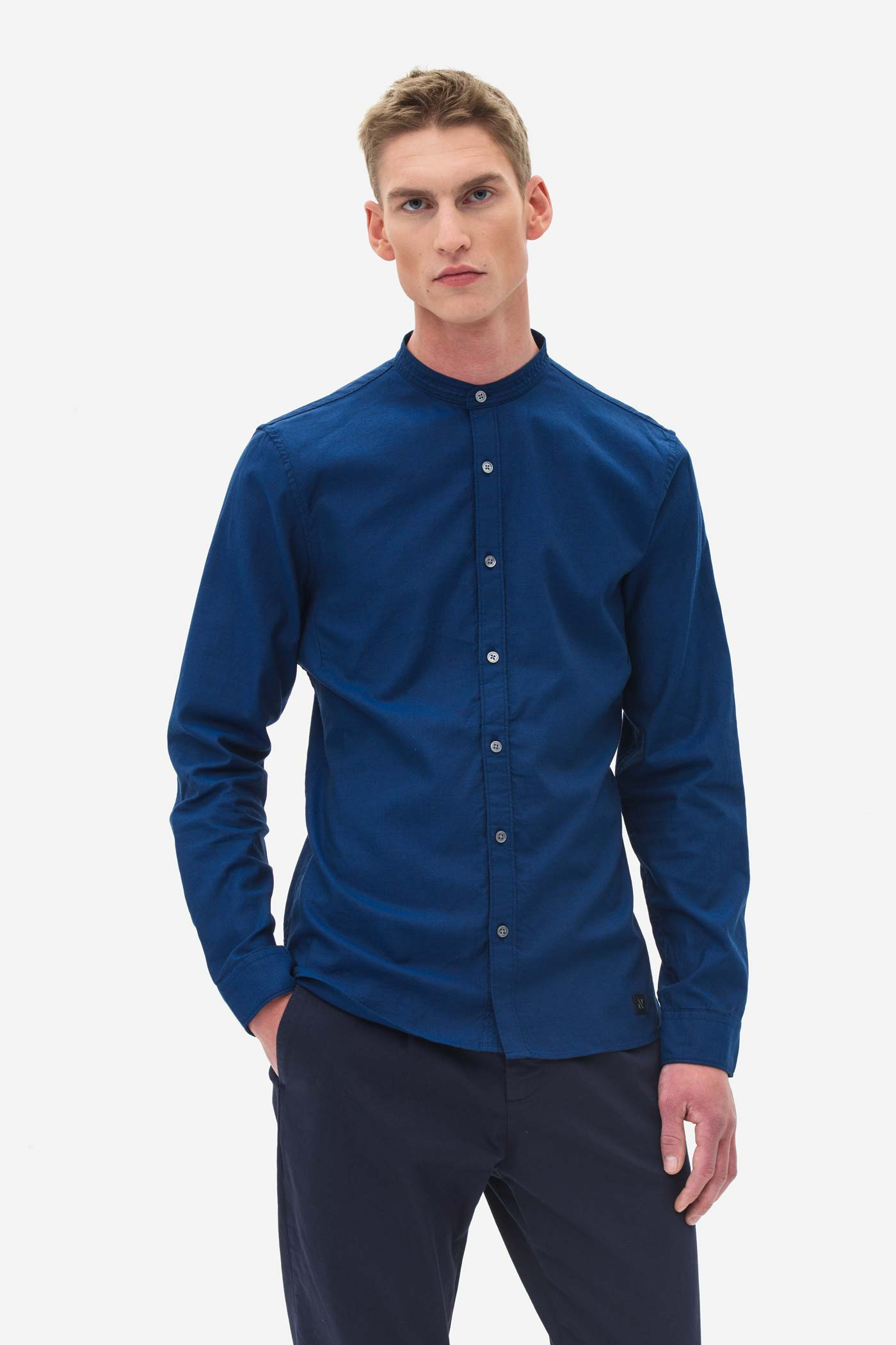 Grandad Oxford Shirt medival blue
