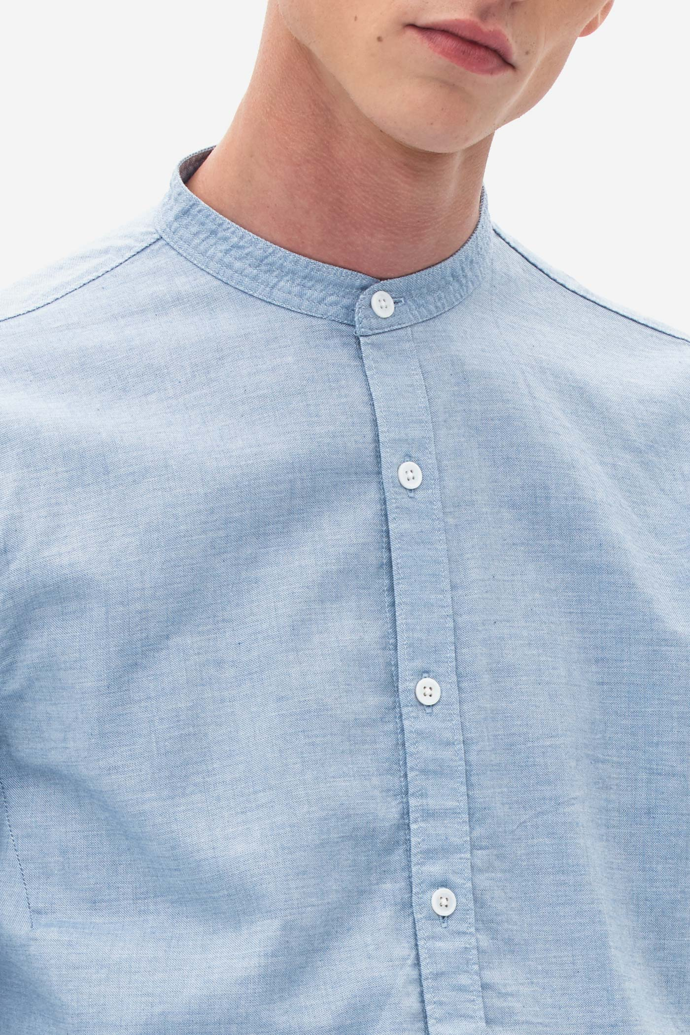Grandad Oxford Shirt blue