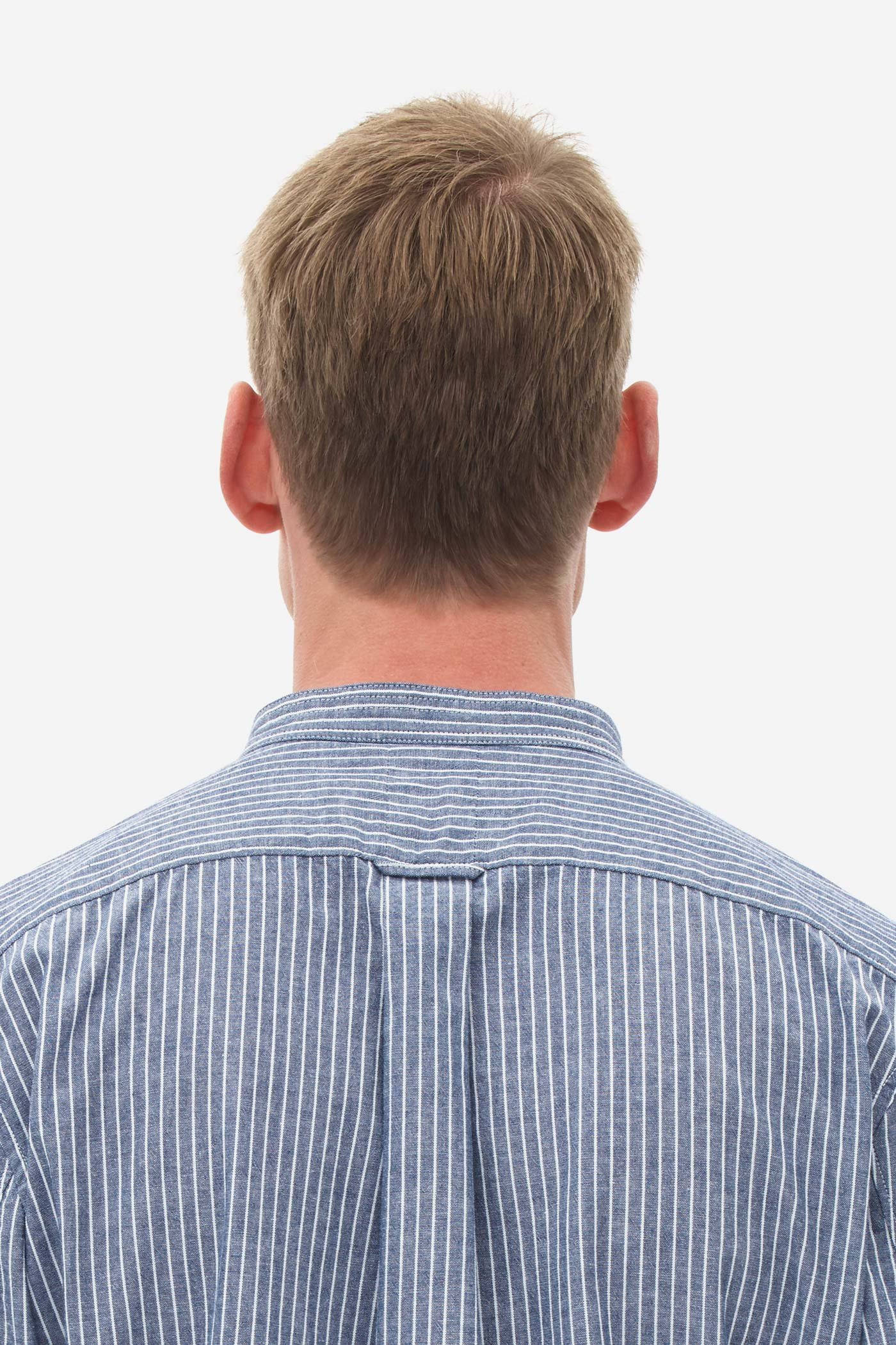 Chambray Stripe Shirt medival blue