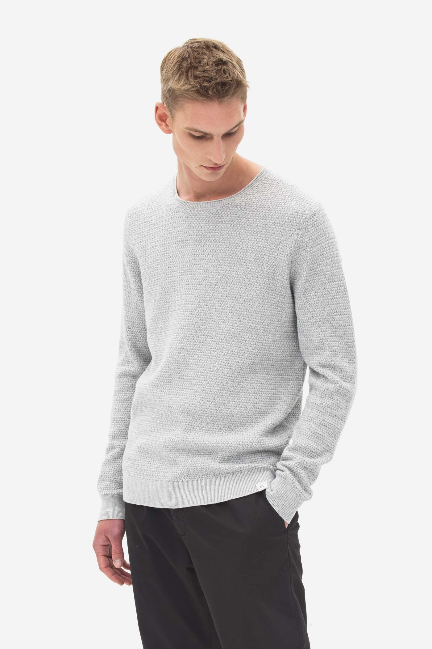 Basket Stitch Sweater grey melange