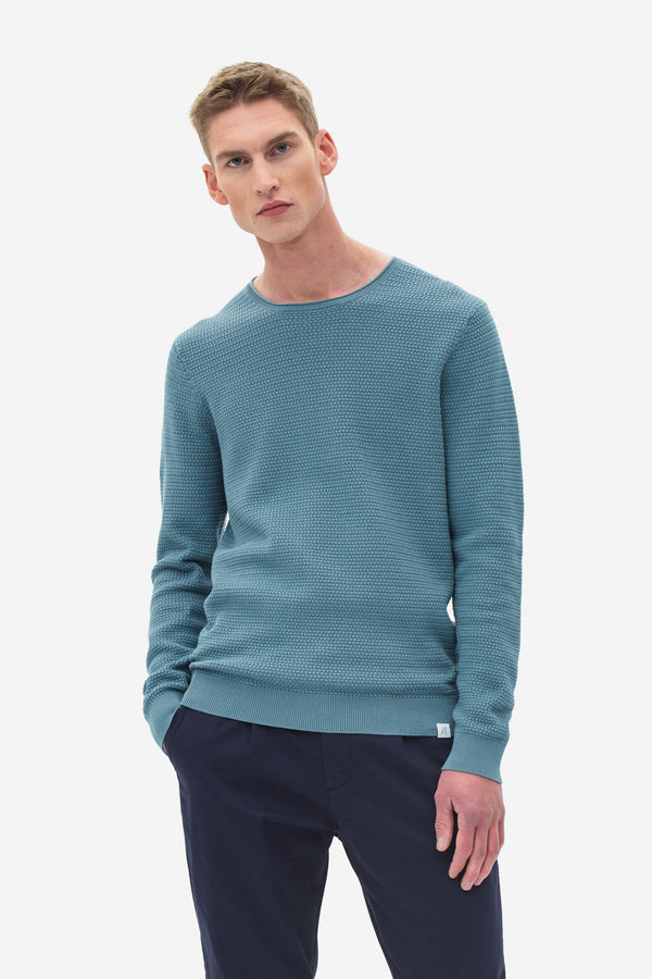 Basket Stitch Sweater light atlantic