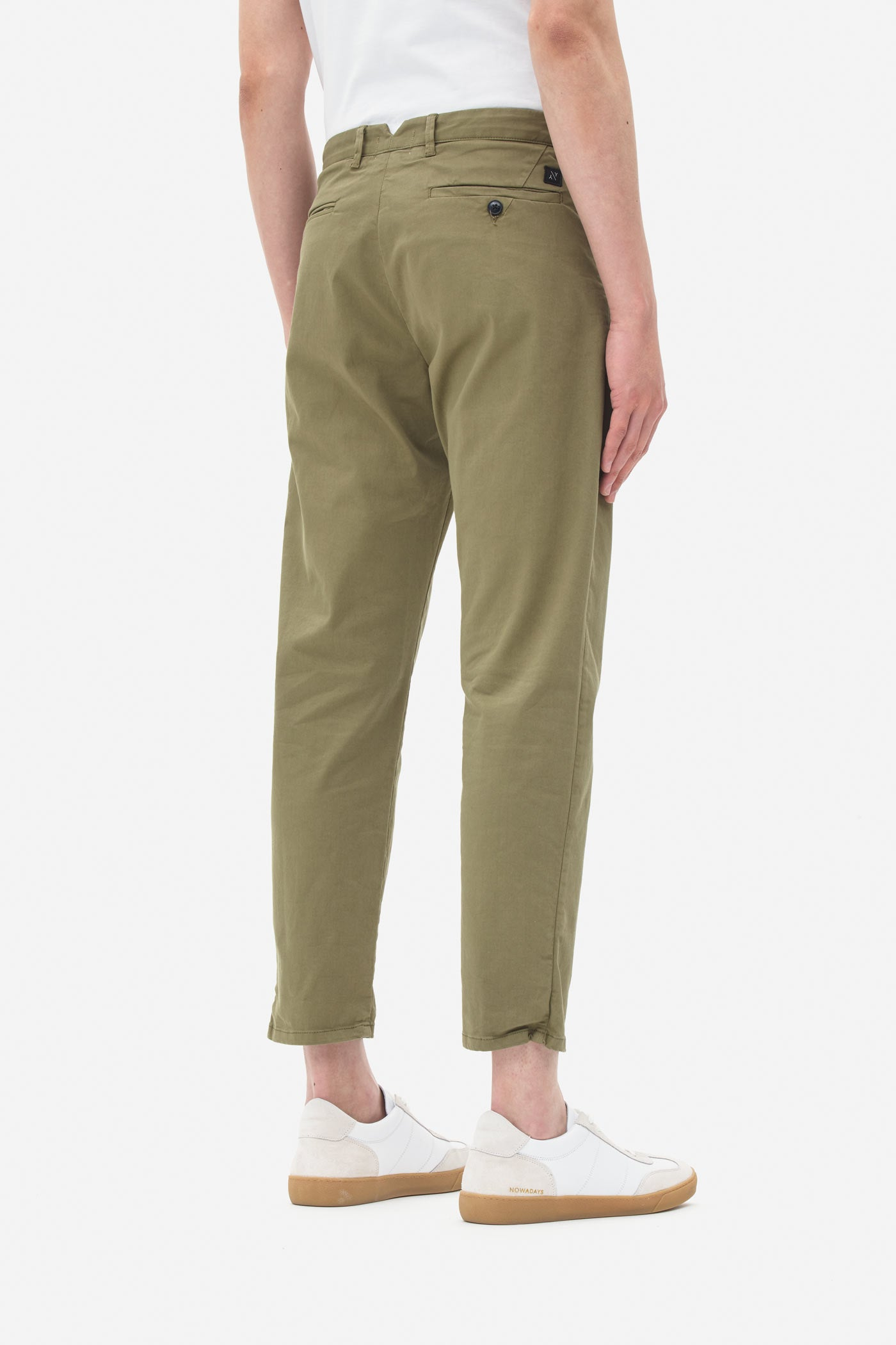 Single Pleat Pants burnt olive
