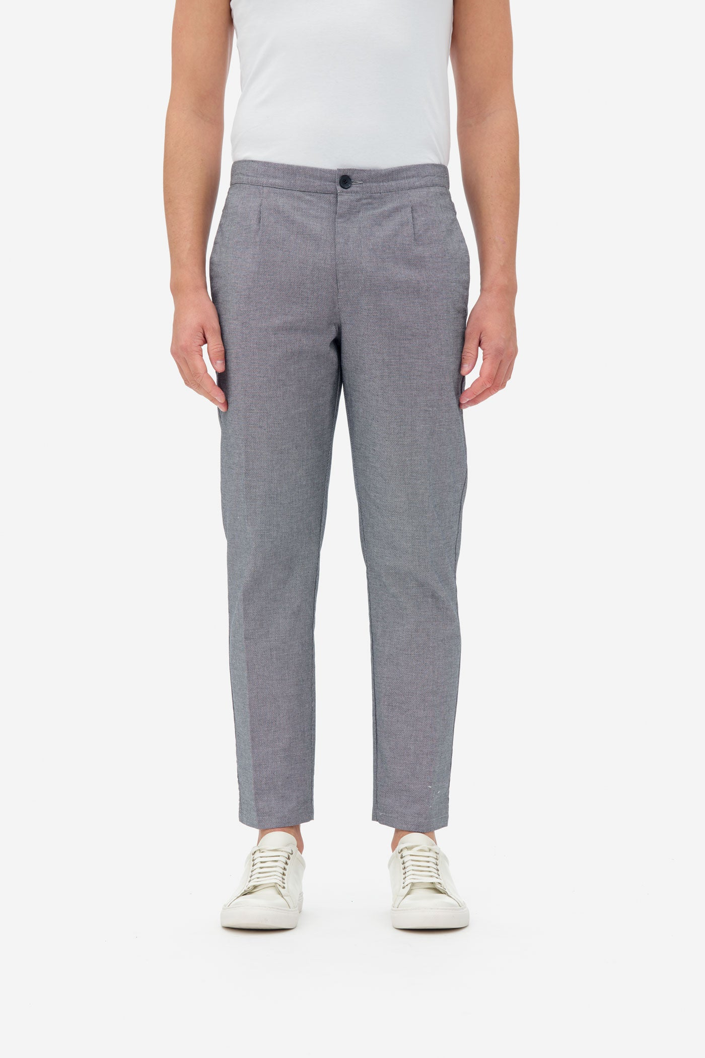 Structured Pants grey melange