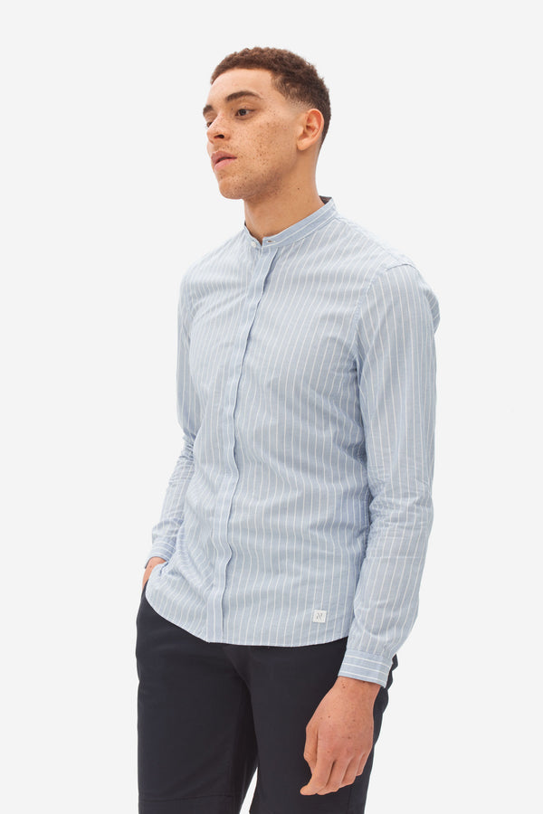 Grandad Collar Shirt eclipse
