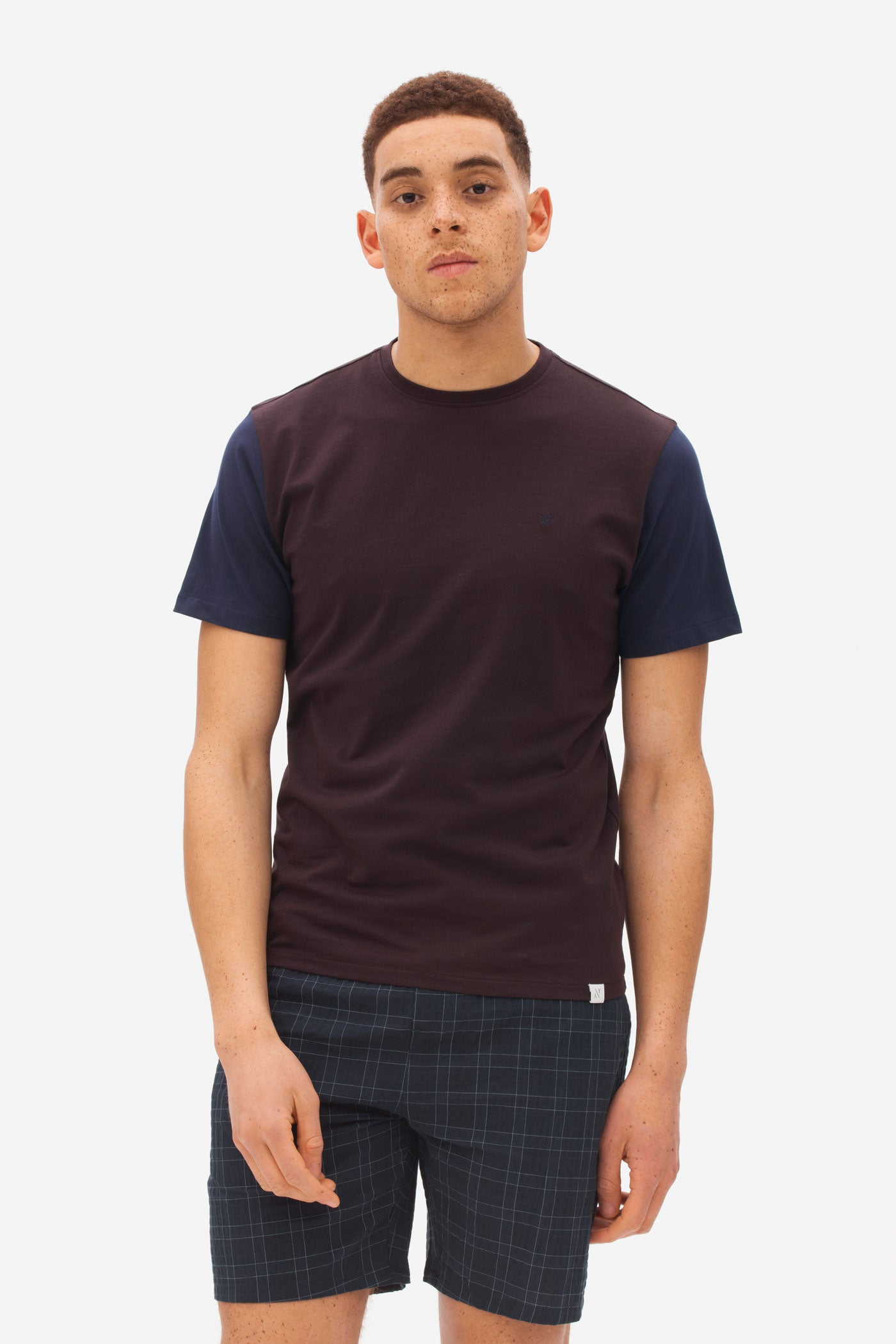 Bi-color T-Shirt dark bordeaux
