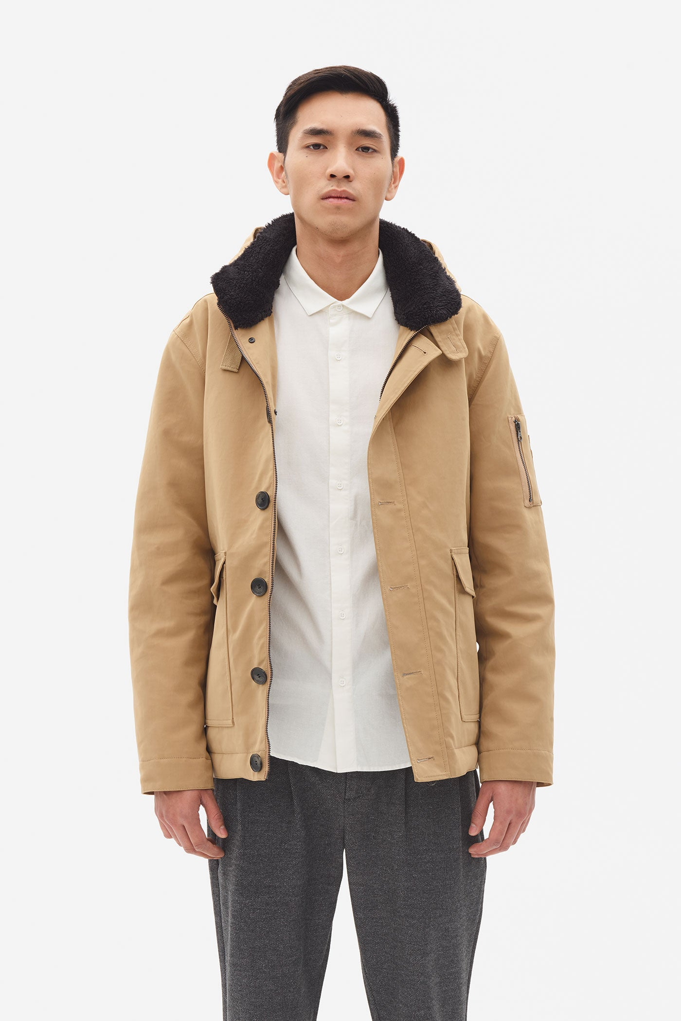 Padded Short Parka tigers eye