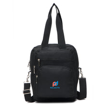 "Load image into Gallery viewer, Lunch Bag Backpack (12""x10""x6"" Inc) Multiple Pockets, Metal Clips, Easily Converted into Backpack"