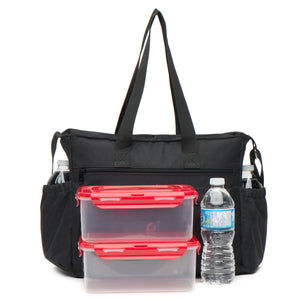 Extra Large Lunch Bag 6 External Pockets (13.5x10.5x7 Inches) Thick Foam Insulation Strong Zippers