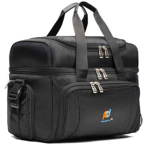 Large Cooler Bag (15x12x9 Inches) With Dual Insulated Compartment, Heavy-Duty Polyester.