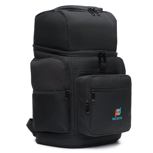 Leakproof Backpack Cooler Bag (17x11x7 Inc) WithTwo Insulated Compartment, Heavy Duty 1000D Fabric