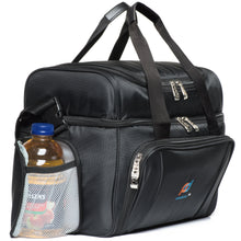 Load image into Gallery viewer, BUNDLE: Large Cooler Bag Plus Ice Pack. Dual Insulated, Heavy Duty Fabric, Thick Insulation, 2 Heat Sealed Liner, Double Zipper, Padded Straps. 5-Pack, Slim, Reusable, Long-Lasting, Ice Packs Gel.