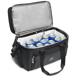 Cooler Lunch Bag Medium (12x10x6.5 Inches). Dual Insulated Compartment And Heavy-Duty Polyester.