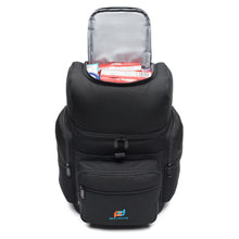 Load image into Gallery viewer, Leakproof Backpack Cooler Bag (17x11x7 Inc) WithTwo Insulated Compartment, Heavy Duty 1000D Fabric
