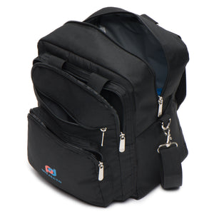 "Lunch Bag Backpack (12""x10""x6"" Inc) Multiple Pockets, Metal Clips, Easily Converted into Backpack"