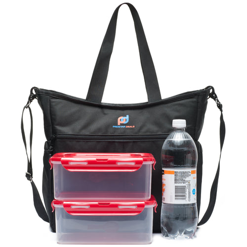 Extra Large Lunch Cooler Bag. Premium Fabric, Thick Foam Insulation, Strong Liner, Multiple Pockets
