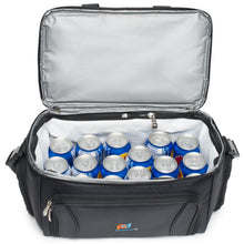Load image into Gallery viewer, Large Cooler Lunch Bag (15x12x9 Inches) With Dual Insulated Compartment And Heavy-Duty Polyester.
