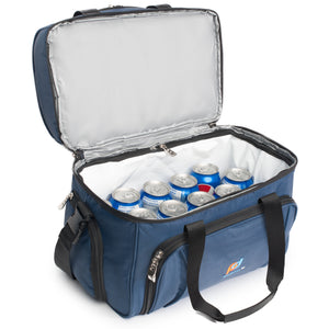 Cooler Lunch Bag Medium (12x10x6.5 Inches). Dual Insulated Compartment And Heavy-Duty Polyester