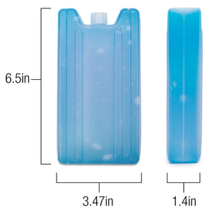Large Thick Ice Pack for Cooler Bags (3 Pack): Keep Food and Beverages Cold for hours. Reusable, Long-Lasting, Safe Freezer for Lunch Bags.