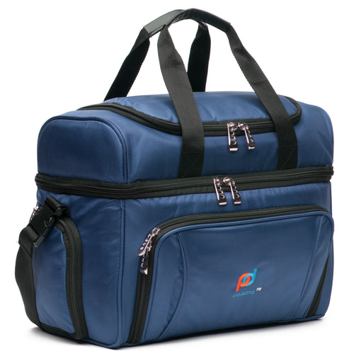 Cooler Lunch Bag Small (12x10x6.5 Inches). Dual Insulated Compartment And Heavy-Duty Polyester