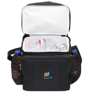 Hard Liner Two Compartment Cooler Lunch Bag With Removable Leakproof Plastic Bucket (11x12x8 Inch)