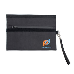 Smell Proof Bag (11x6 Inches) Plus 5 Mini Travel Pouches. Activated Carbon Liner, Dual-Seal System