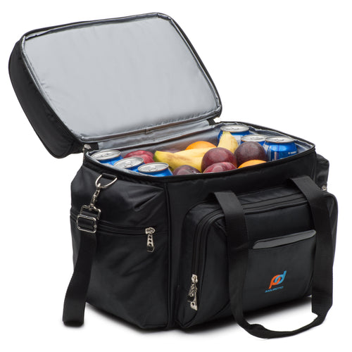 Extra Large Cooler (13 x 9.5 x 14 Inches) With Dual Insulated Compartment And Heavy-Duty Polyester.