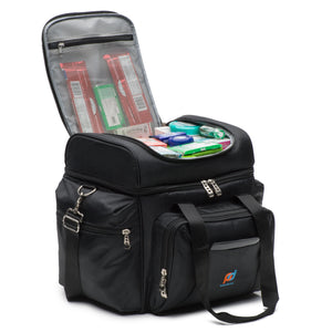 Large Cooler Bag with Leakproof Hard Liner Bucket (13 x 9.5 x 14 In) And Two Insulated Compartment