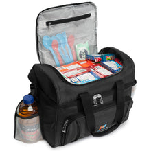 Load image into Gallery viewer, Cooler Lunch Bag Medium (12x10x6.5 Inches). Dual Insulated Compartment And Heavy-Duty Polyester.