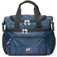 Load image into Gallery viewer, Cooler Lunch Bag Medium (12x10x6.5 Inches). Dual Insulated Compartment And Heavy-Duty Polyester