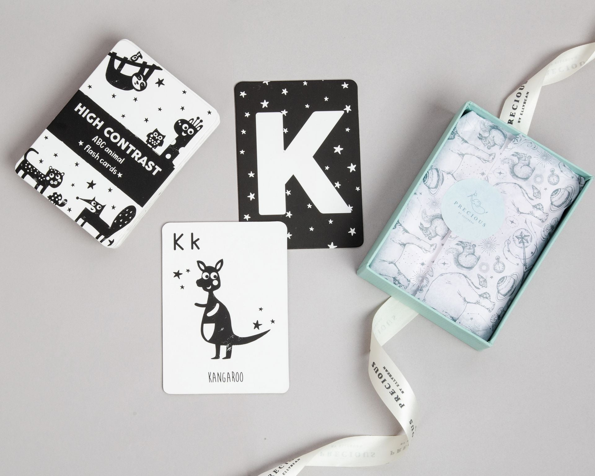 High Contrast Flashcards, gender-neutral gifts for baby shower