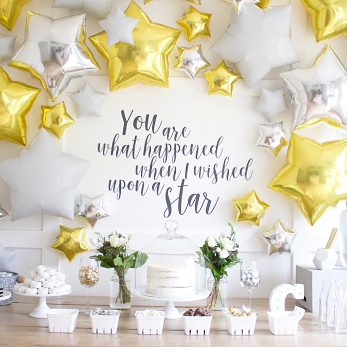 Starry Baby shower Theme