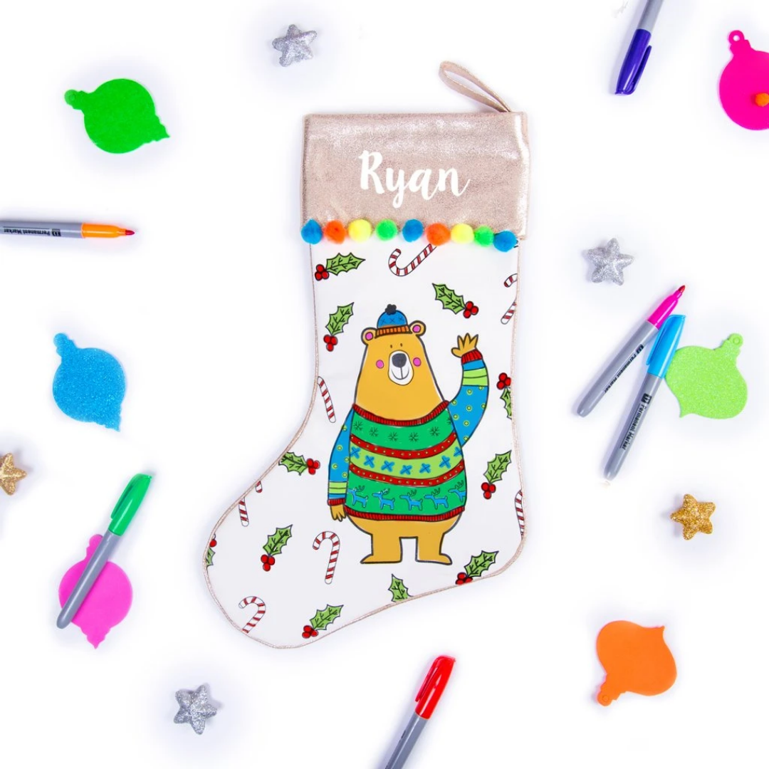 Personalised Colour Me In Stocking