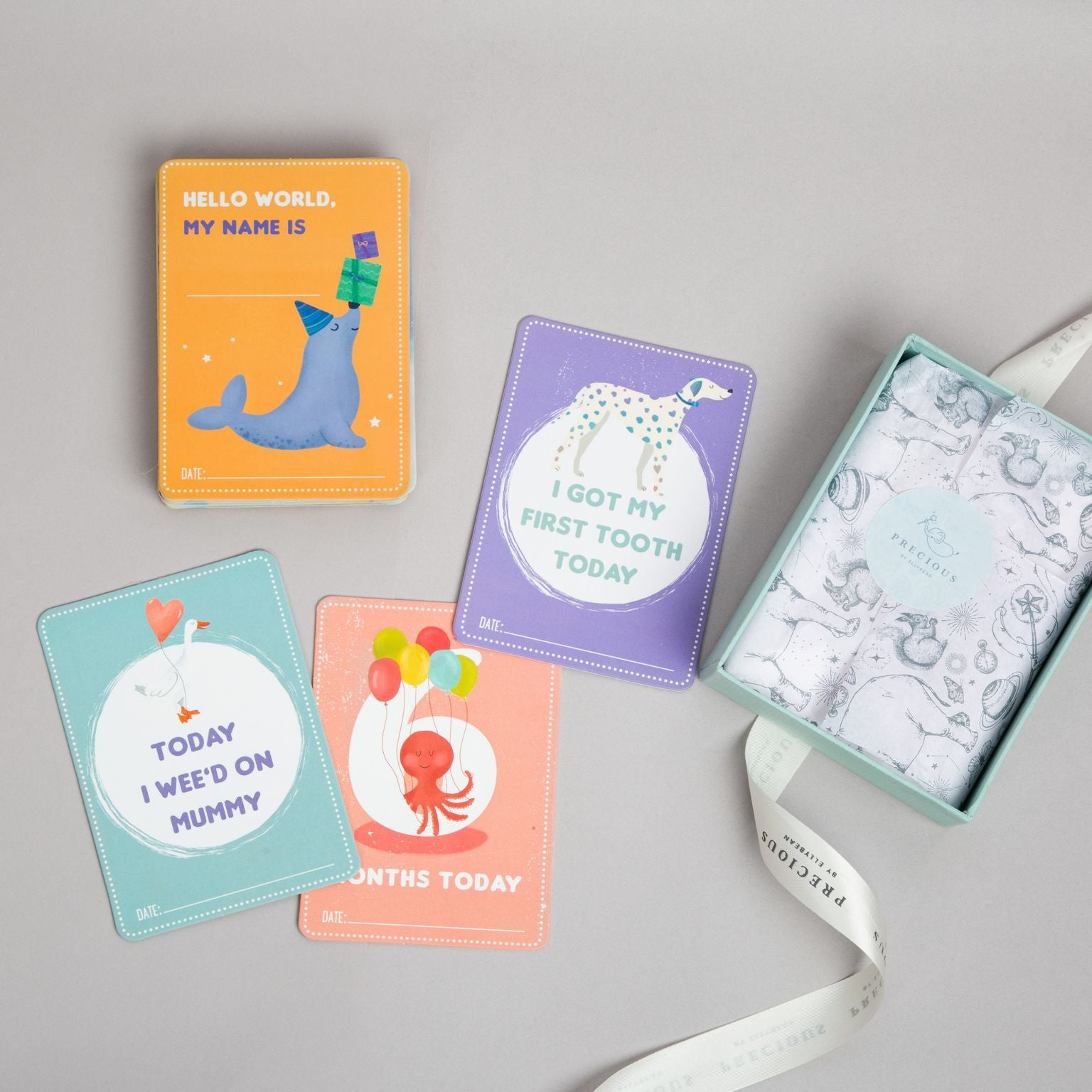 Wild About You Milestone cards, Gender-neutral baby shower gifts