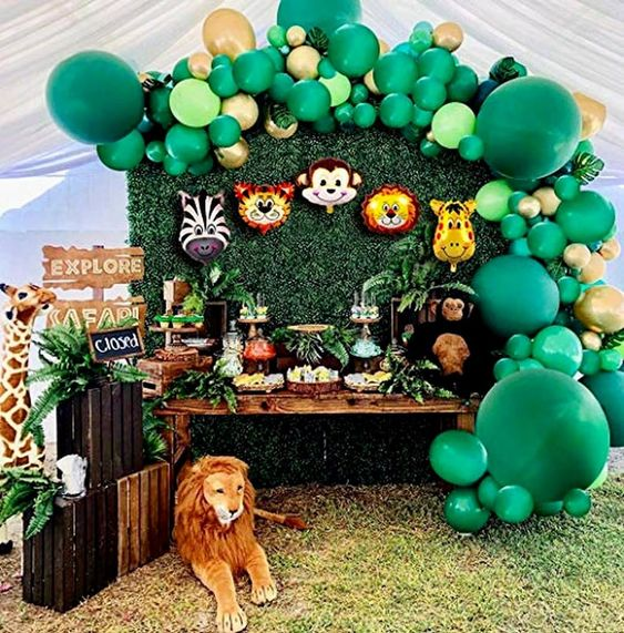 Wild Animal Baby Shower party theme