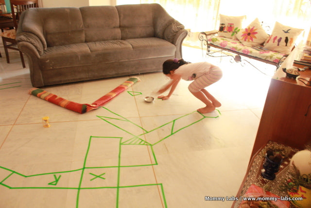 Indoor Obstacle Race for kids