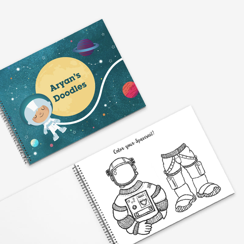 Colouring & Activity Book: My Space Adventures - Ellybean Designs India