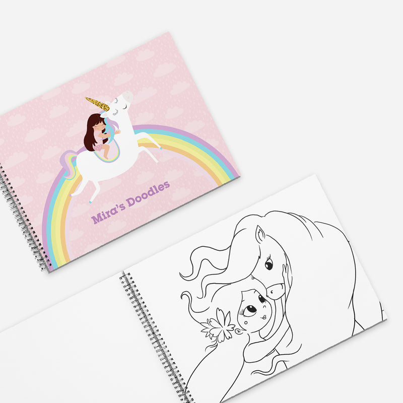 Colouring & Activity Book: My Unicorn Adventures - Ellybean Designs India