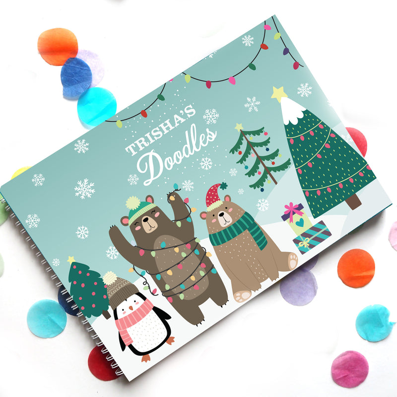 Beary Special Xmas: Doodle Book - Ellybean Designs India