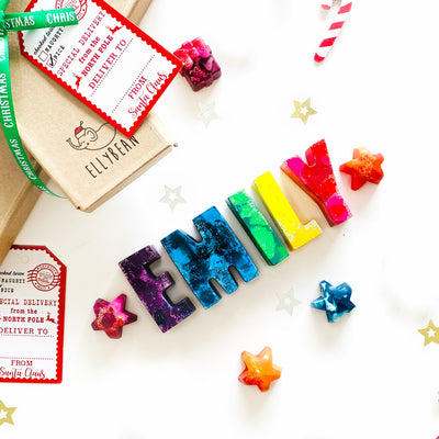❆ Holiday Name Crayons ❆ - Ellybean Designs India