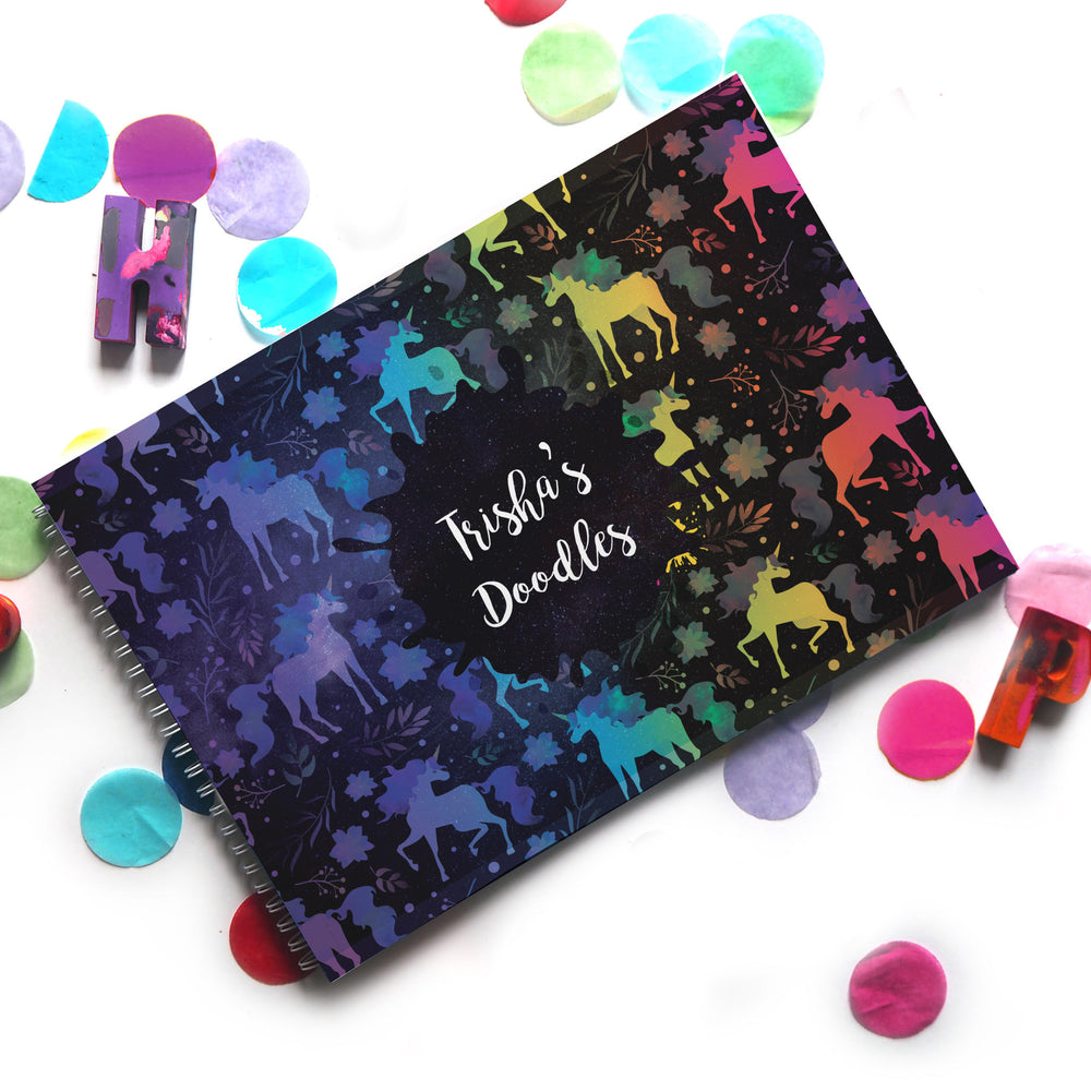 Glow On & Sparkle: Doodle Book - Ellybean Designs India