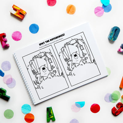 Coloring & Activity Book: Born To Be Wild - Ellybean Designs India