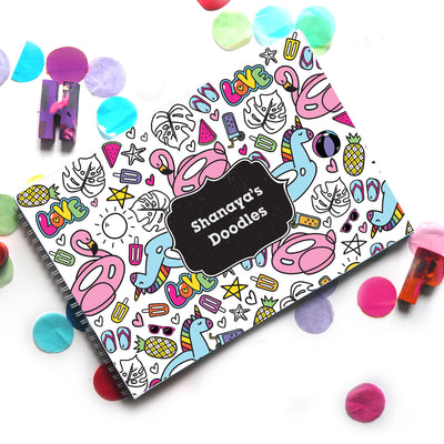 Tropic Like Its Hot: Doodle Book - Ellybean Designs India