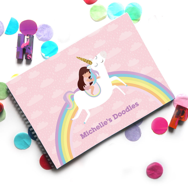 Unicorns & Rainbows: Doodle Book - Ellybean Designs India
