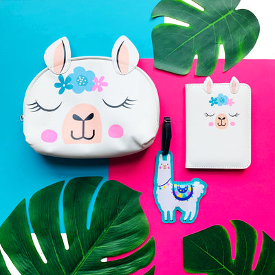 Wild Gift Set: Utility Pouch, Holder & Bag Tag - Ellybean Designs India