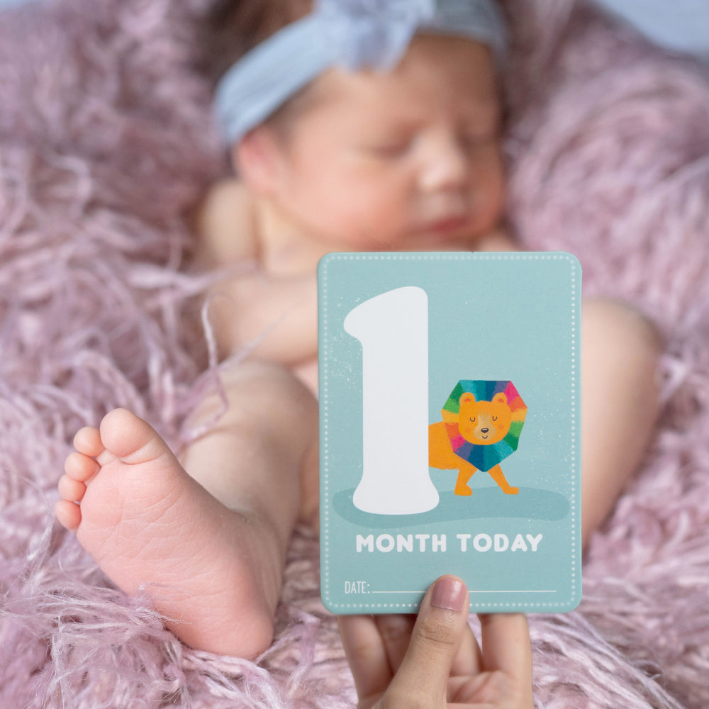 Wild About You: Baby Milestone Cards - Ellybean Designs India